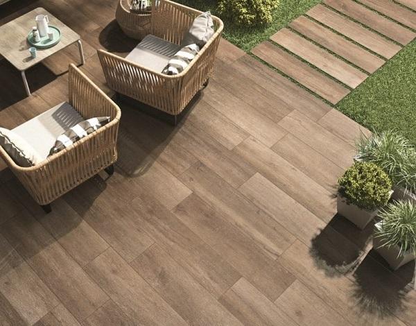gạch giả gỗ ngoại thất đảm bảo cả về thẩm mỹ và chất lượng