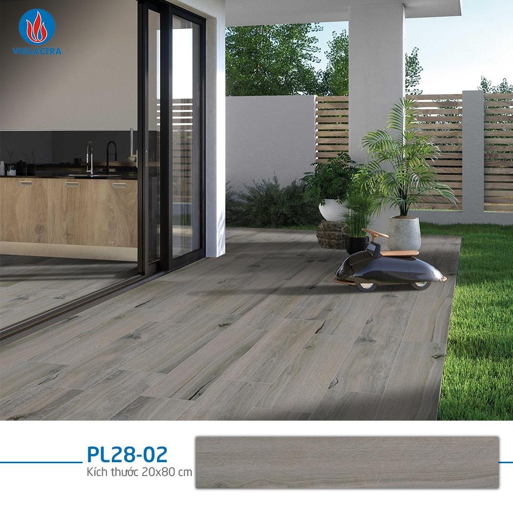 Gạch giả gỗ ngoài trời viglacera PL28-02 bề mặt nhám, xương gạch đảm bảo độ cứng tốt nhất
