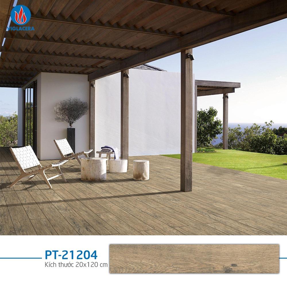 gạch giả gỗ ngoài trời viglacera PT-21204 mang đậm phong cách thiết kế châu Âu