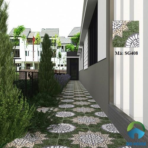 Mẫu gạch nhám lát sân vườn SG408 mang vẻ đẹp tự nhiên