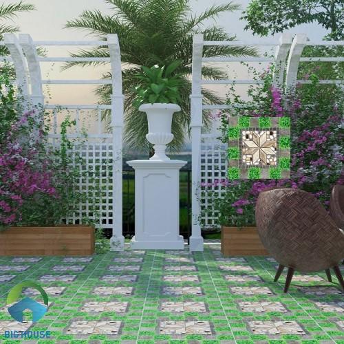 Không gian sân vườn ấn tượng hơn với mẫu gạch SV5522