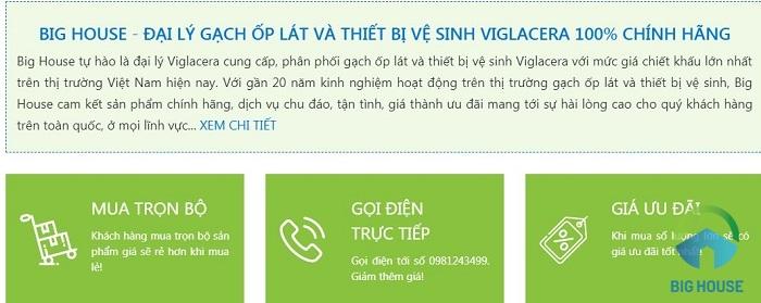 bồn cầu viglacera tphcm chính hãng