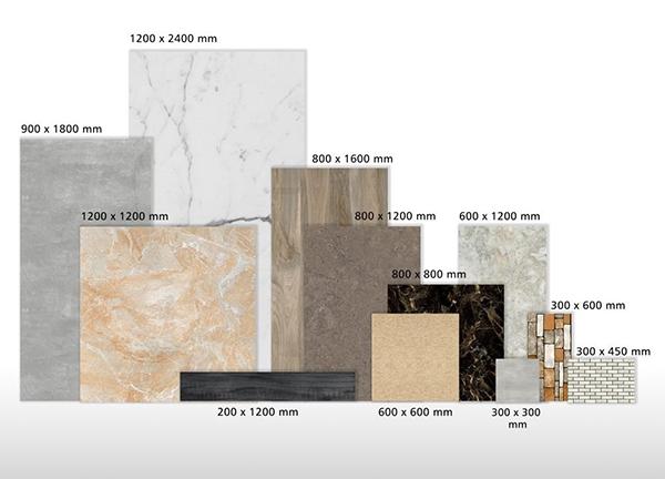 Các loại kích thước gạch ốp tường, lát nền phổ biến hiện nay