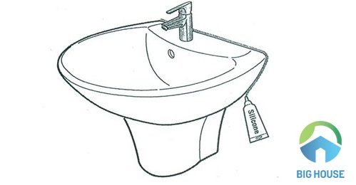 cách lắp chậu rửa mặt viglacera