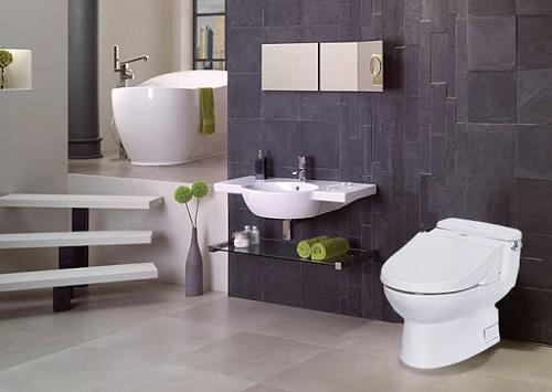 Chọn kích thước bồn cầu cho phòng tắm diện tích lớn