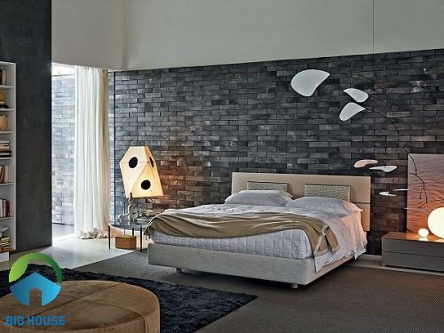 gạch thẻ ốp tường phòng ngủ 2