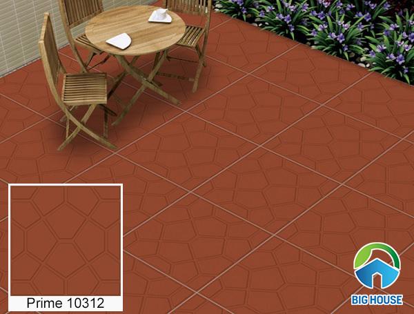 gạch gốm Prime lát sân mã 10312 bề mặt nhám định hình