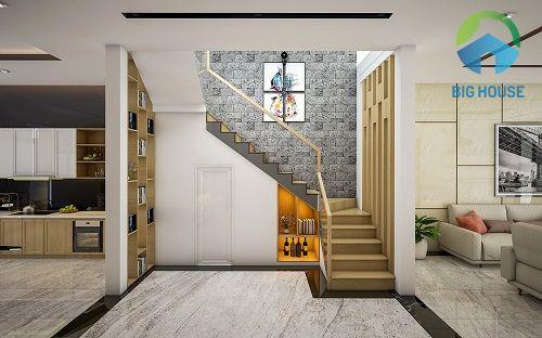 gạch trang trí chân cầu thang