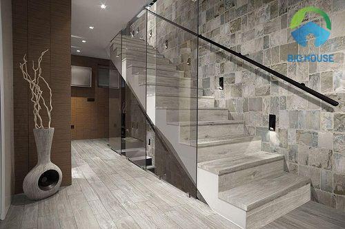 gạch trang trí tam cấp cầu thang