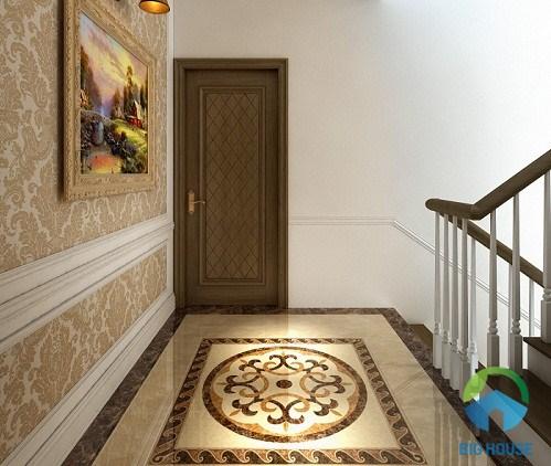 gạch thảm trang trí chiếu nghỉ cầu thang