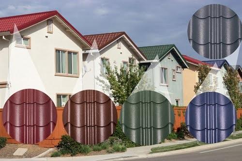 Các loại ngói lợp nhà đa dạng về màu sắc