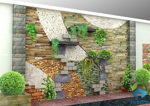 gạch thẻ ốp tường giả đá cổ điển