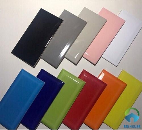 Các mẫu gạch thẻ đơn sắc với nhiều gam màu sắc khác nhau
