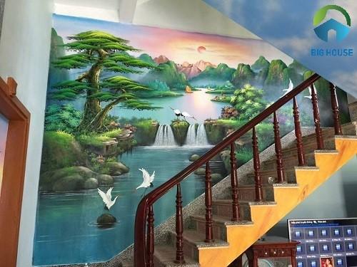 gạch 3d ốp cầu thang