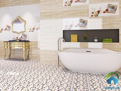 Gạch sỏi lát nền nhà tắm chống trơn trượt