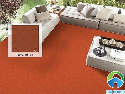 Gạch đỏ Prime mã 10312 kích thước 50x50 chống trơn hiệu quả cho khu vực ngoại thất