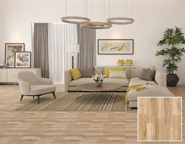 Mẫu gạch lát nền phòng khách giả gỗ prime 01228 kích thước vuông