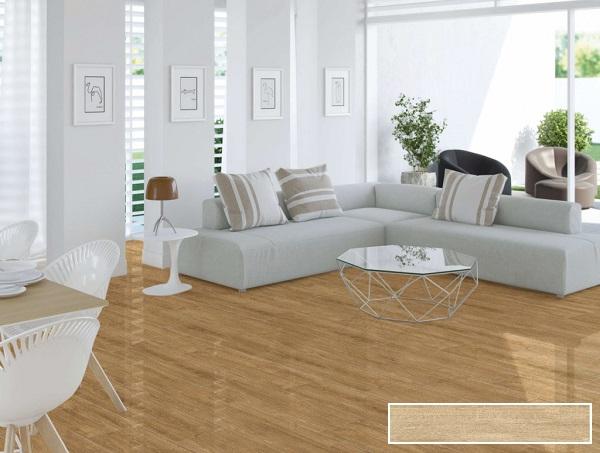 mẫu gạch lát nền vân gỗ prime 09551 bề mặt men bóng dễ dàng vệ sinh