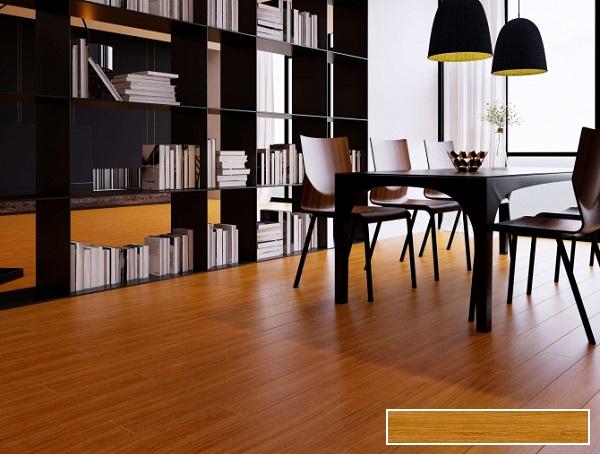 gạch lát nền phòng khách giả gỗ Viglacera T15906 tông màu nâu đỏ nổi bật