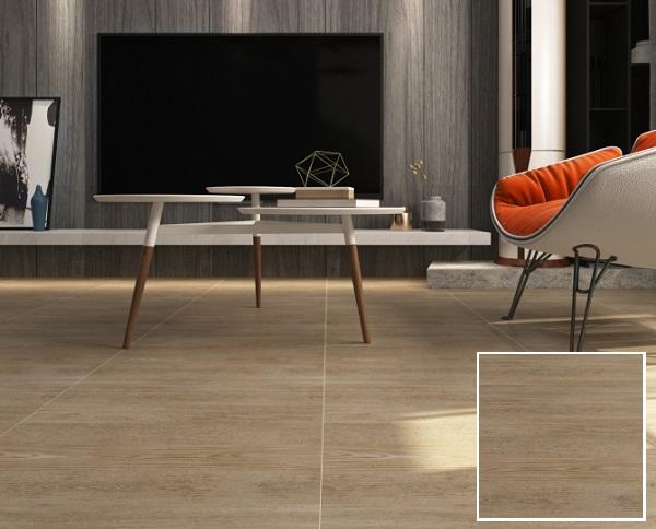 Gạch lát nền vân gỗ 60x60 Viglacera G6001 với họa tiết giả gỗ chân thực, tự nhiên
