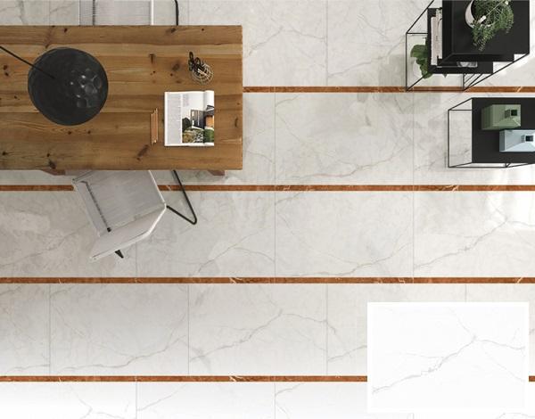 mẫu gạch prime 08108 họa tiết vân đá marble trắng