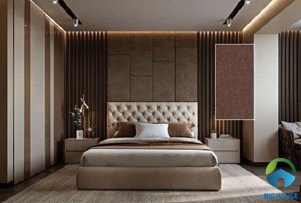 Gạch ốp phòng ngủ viglacera F3626 màu nâu đậm
