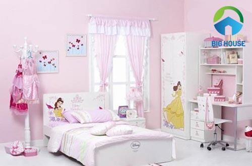 gạch ốp tường phòng ngủ cho bé