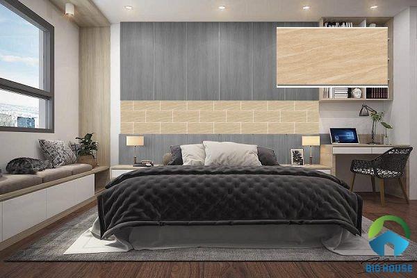 Gạch ốp tường phòng ngủ Viglacera vân đá KT3634 sang trọng