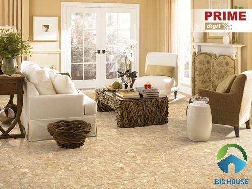 Gạch lát Prime 60x60 09736 màu vàng đơn giản