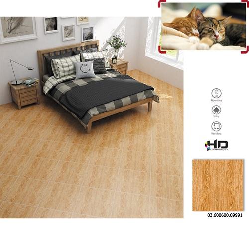 gạch vân gỗ prime 600x600 09991 cho không gian phòng ngủ