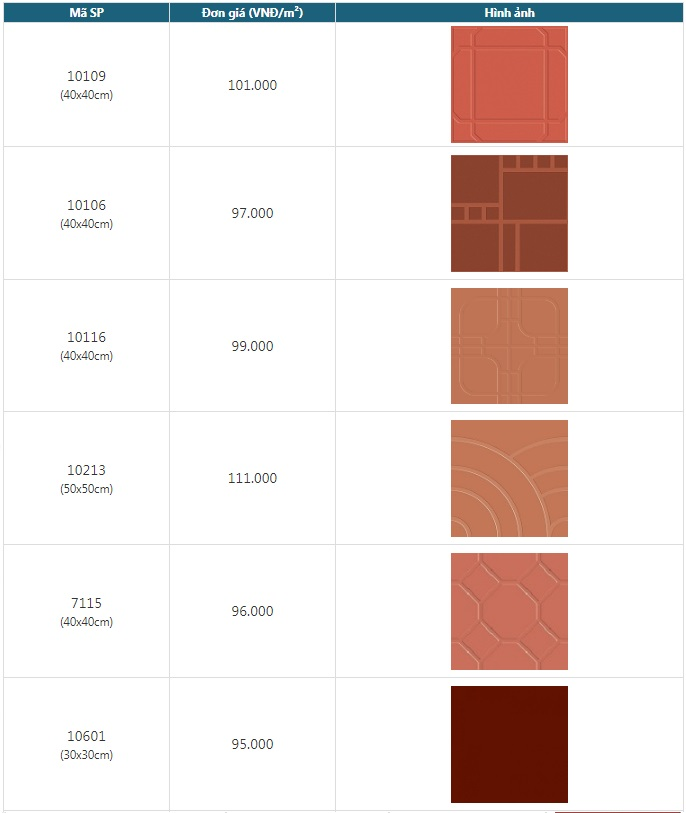 Giá gạch đỏ lát sân 60x60
