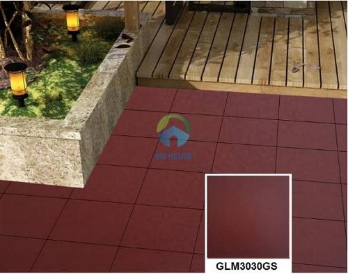 Mẫu gạch đỏ lát sân Mikado GLM3030GS