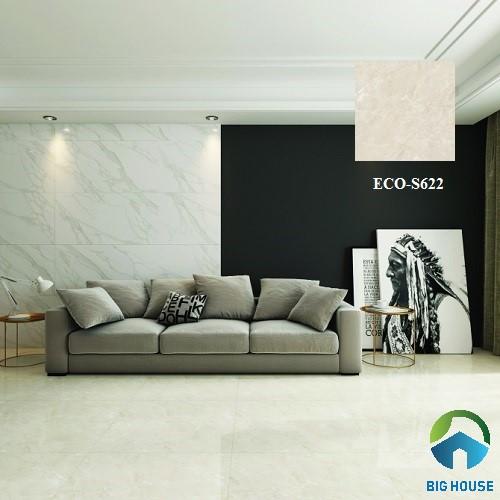 mẫu gạch lát nền phòng khách nhà ống Viglacera ECO-S622