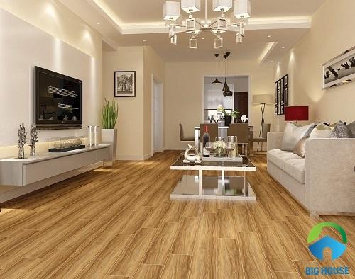 Mẫu gạch giả gỗ 15x80 Tasa 1583 cho phòng khách