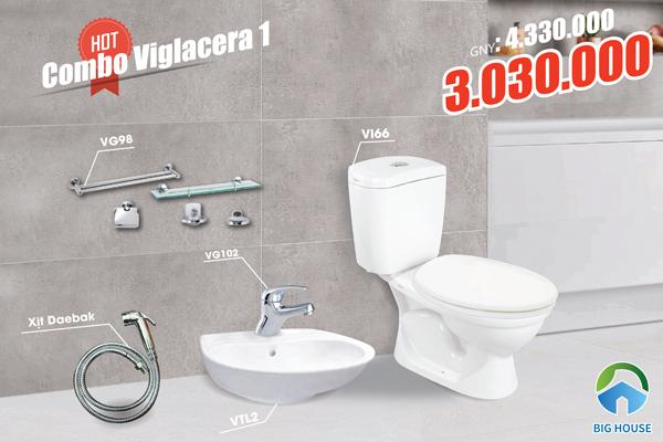 Combo trọn bộ thiết bị vệ sinh viglacera chiết khấu cao
