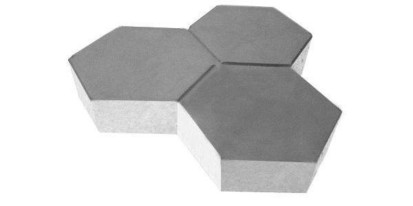 Gạch block lục giác màu xám
