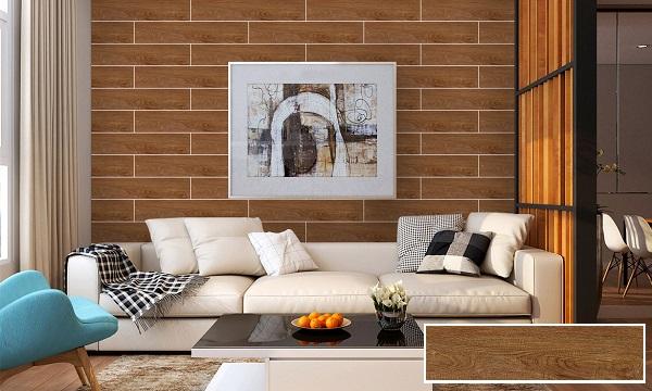 TOP Mẫu gạch ốp tường phòng khách giả gỗ đẹp, bán chạy nhất 2021