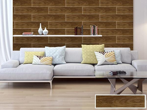 Mẫu gạch ốp tường phòng khách giả gỗ đẹp Prime 09517 sở hữu họa tiết vân gỗ tự nhiên