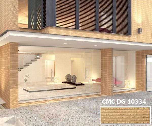 Gạch ốp mặt tiền nhà ống CMC DG 10334 gam màu vàng nổi bật