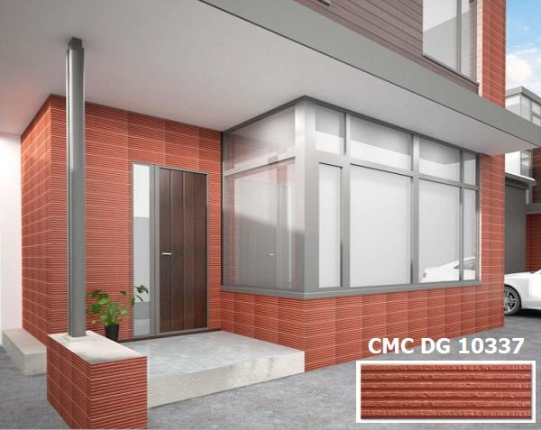 Gạch thẻ ốp mặt tiền màu đỏ CMC DG 10337 phù hợp cho mệnh Hỏa và mệnh Thổ