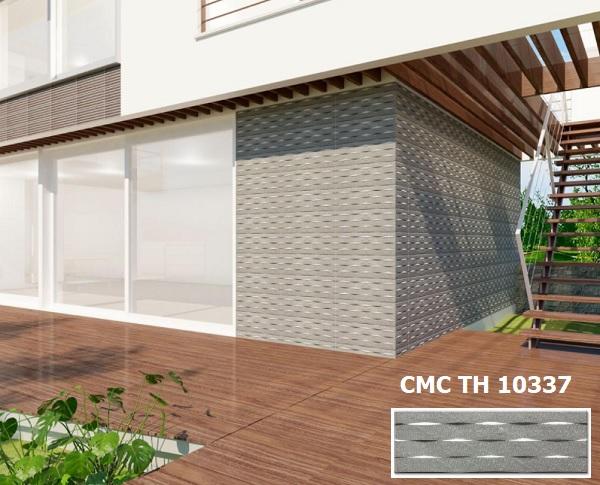 Gạch ốp mặt tiền nhà ống CMC TH 10337 họa tiết 3D độc đáo