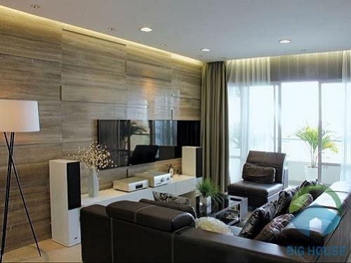 gạch ốp tường giả gỗ phòng khách 1