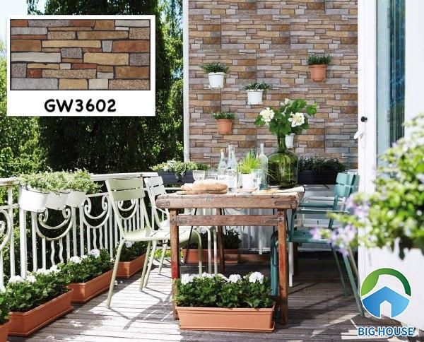 Mẫu gạch ốp tường Viglacera GW3602 ốp tường ban công họa tiết độc đáo