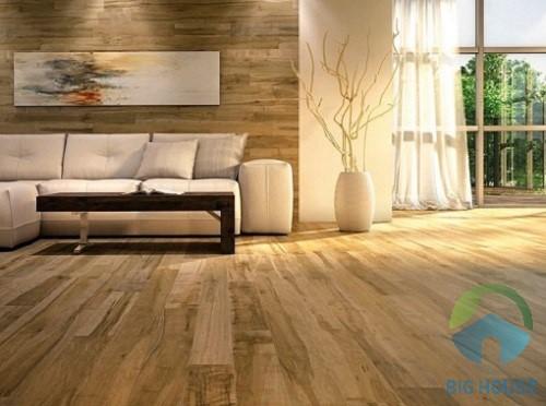 gạch vân gỗ ốp tường phòng khách 1