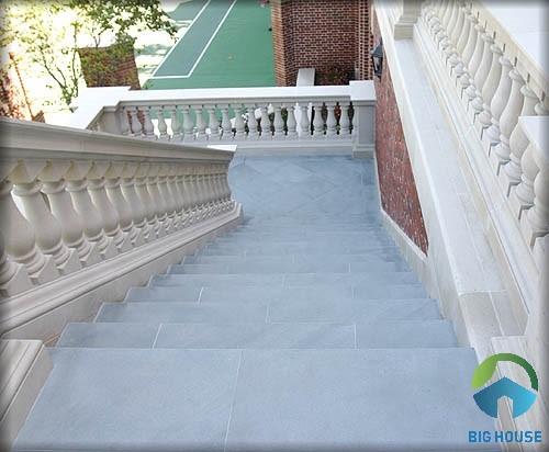 mẫu gạch giả đá men matt lát cầu thang ngoài trời