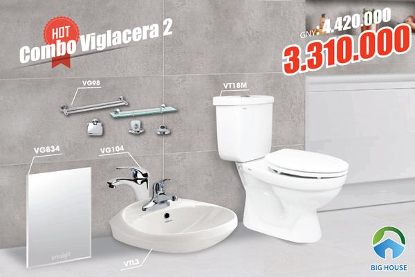 Combo thiết bị vệ sinh Viglacera 2 chiết khấu 25%