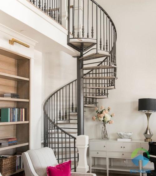 thiết kế cầu thang cho nhà ống 4m