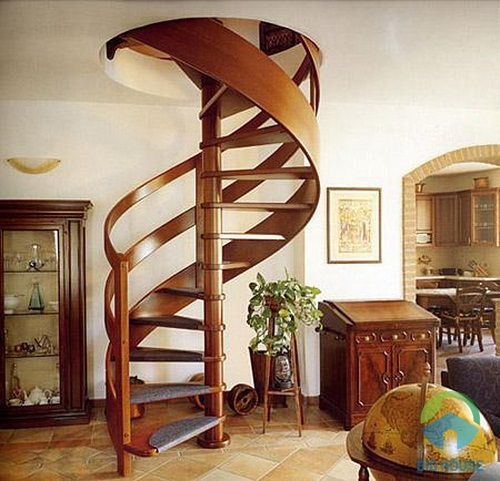 cầu thang đẹp cho nhà ống 4m