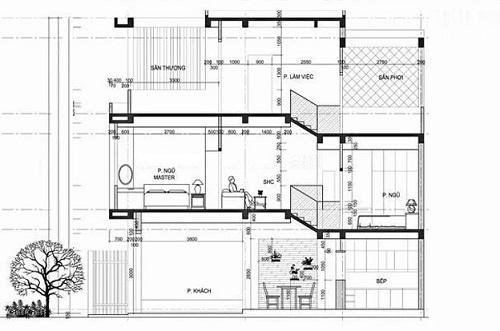 mẫu nhà ống lệch tầng 4x15 m 1