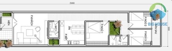 nhà cấp 4 mái thái 3 phòng ngủ đẹp